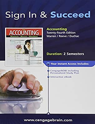 Sign In & Succeed to accompany Accounting 24th edition (access card)