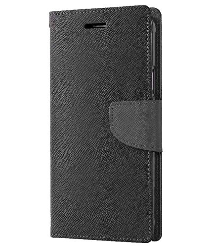 Avzax Flip Case Cover with Magnetic Closure for Samsung Galaxy On5 Pro  Black