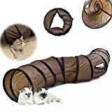 Kitten, Small dogs Toys Collapsible Cats Agility Tunnel with Peek Hole Play Fun Crackle Tent Tube Agility Training Toys