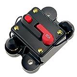 KUMEED Circuit Breaker Trolling Motor Auto Car Marine Boat Bike Stereo Audio Inline Fuse Inverter (60A)