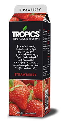Tropics Strawberry Drink Mix, 32 Ounce -- 12 per case. by Beverage Innovations