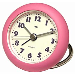 Bai Rondo Travel Alarm Clock, Pink
