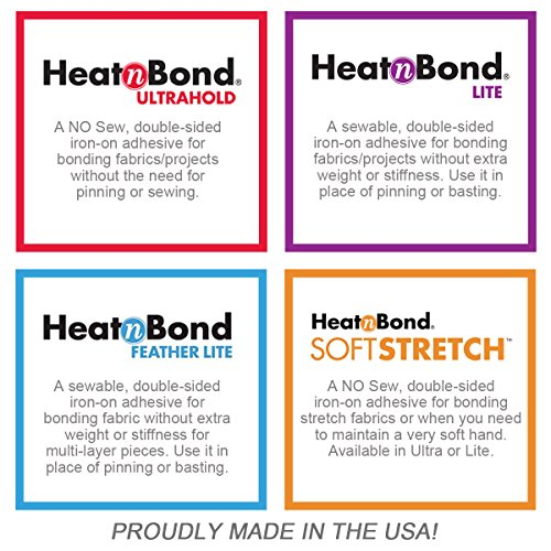 HeatnBond Lite Iron-On Adhesive Value Pack, 17 Inches x 5.25 Yards