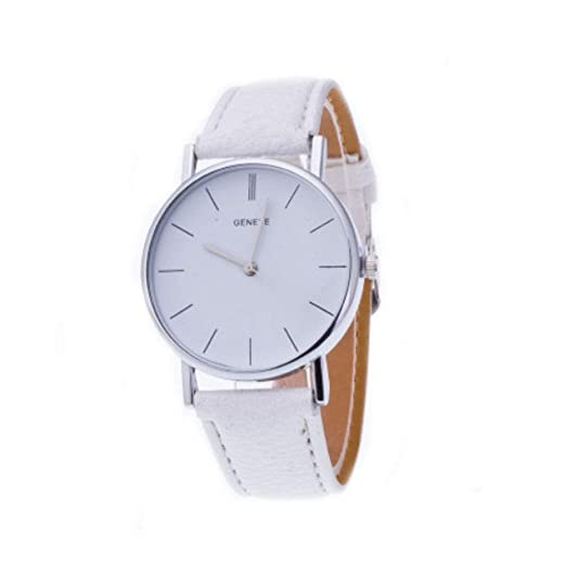 Ginebra Diamante Relojes Caliente Venta Reloj Resistente al Agua Mode Mujeres Retro Diseño Piel de Banda