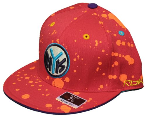 New! New York Knicks - Fitted 3D Embroidered Cap - Reebok Paint Splash Kolors - Size 7 1/2