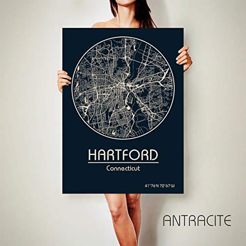 Hartford Connecticut Map - Hartford Connecticut Canvas Map Hartford Connecticut Poster City Map Hartford Connecticut Art Print Hartford Connecticut Frame