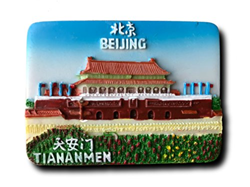 Tiananmen Beijing China 3D Refrigerator Magnet Travel Souvenirs,Hand-made Beijing Fridge Magnet Home and Kitchen Decoration Magnetic Sticker