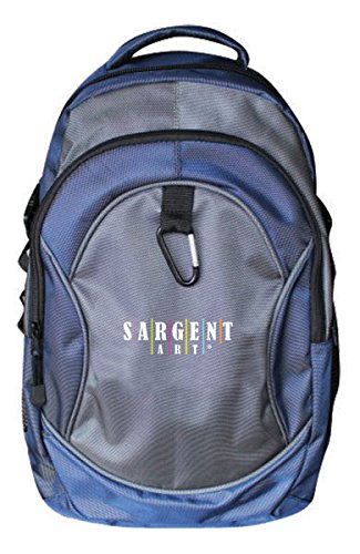 Sargent Trim - Sargent Art 98-5039 Premium Backpack, Gray and Blue with Black Zippers/Trim