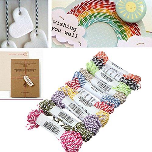 10M Cotton Rope Ribbon Twine Divine Wedding Party String Craft Decoration DIY Accessaries(Random: Color)