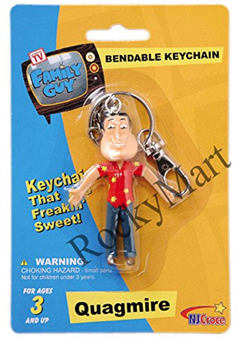 Family Guy QUAGMIRE ( KEY CHAIN ) Bendable Figure RARE Discontinued RM1727 ,#G14E6GE4R-GE 4-TEW6W270251 ()