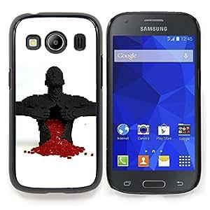 Eason Shop / Premium SLIM PC / Aliminium Casa Carcasa Funda Case Bandera Cover - Corazón Puzzle Game Broken rojo del amor del hombre Anatomía - For Samsung Galaxy Ace Style LTE/ G357