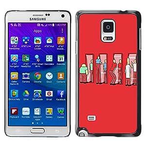 - Freaky Funny Pattern - - Monedero pared Design Premium cuero del tir¨®n magn¨¦tico delgado del caso de la cubierta pata de ca FOR Samsung Galaxy Note 4 SM-N910 N910 Funny House