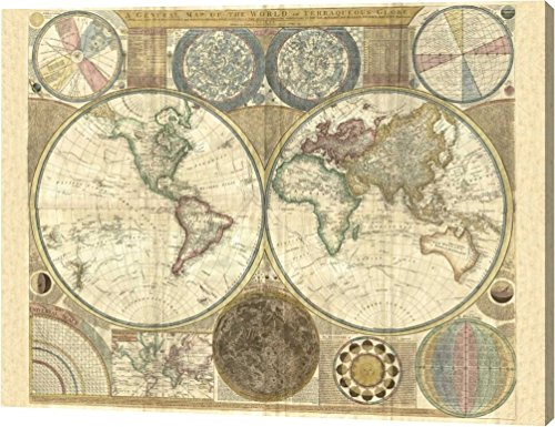 (Double hemisphere map of the world 1794 by Samuel Dunn - 11