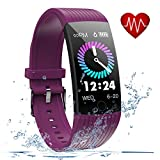 Fitness Tracker, Activity Tracker with Heart Rate Monitor, 1.14 inch Fitness Watch with Sleep Monitor IP69 Waterproof, Step Counter Pedometer SMS Push Smart Watch for iOS Android Phone