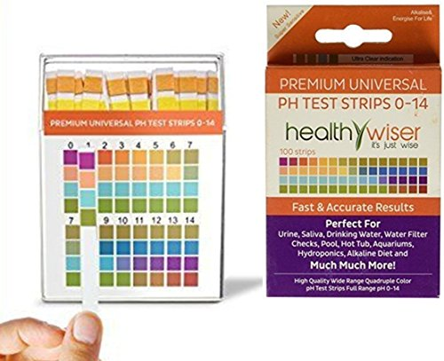 100-Count Good Popular pH Tester Strips Sensitive Indication Results in Seconds Soil Food Indicator Range 0-14pH with Color Chart
