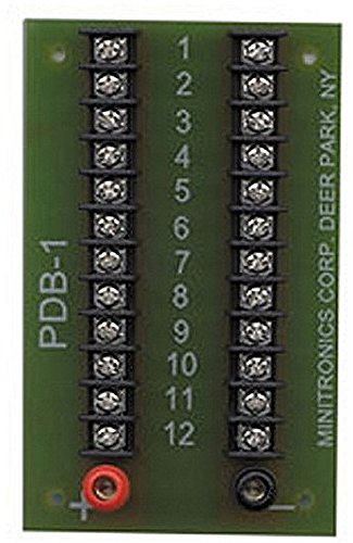 12-Position Prewired Power Distribution Block from Miniatronics Corp