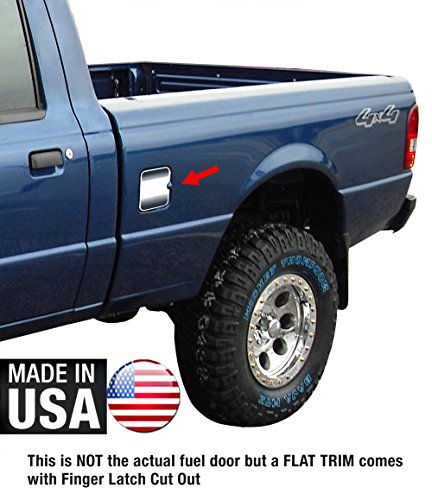Tyger Auto Made in USA! Works with 1998-2011 Ford Ranger Gas Cap Chrome Stainless Steel Fuel Cover