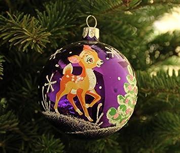 acc43cf8be4 Bola de árbol de Navidad ciervo Bambi morado