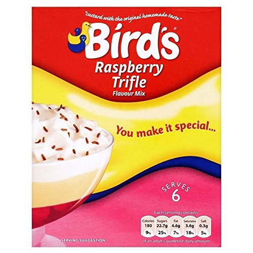 144 Big Bird - Bird's Trifle Raspberry Flavour Mix (144g) - Pack of 2