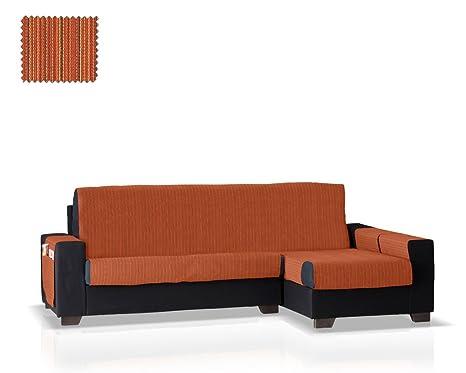 JM Textil Cubre sofá Chaise Longue Rino, Brazo Derecho, tamaño Normal (243 Cm.), Color 09