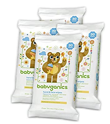 Babyganics Hand and Face Wipes, Fragrance Free