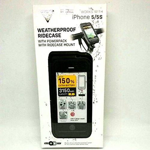 Topeak Powerpack Battery Ridecase : iPhone 5 / 5s / SE : Weatherproof with Mount : Black/Grey