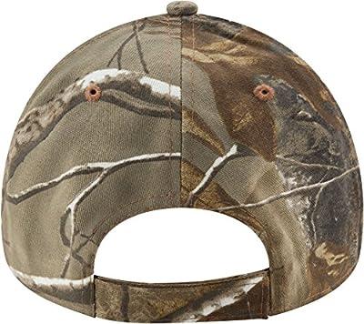 New Era Men's Carolina Panthers Real Tree Camouflage Adjustable Hat (Adjustable)