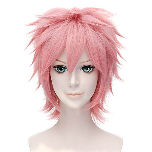 Max beauty Unisex Short Straight Anime Cosplay Spiky Wigs Natural Sexy Costume Halloween Party Daily Hair (Rich Girl Halloween Costume)
