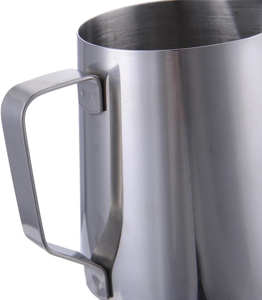 Acier inoxydable 350 ml Hjuns Pichet Moussage R/écipient /à Lait Acier Inoxydable 150//350//600//1000 ml