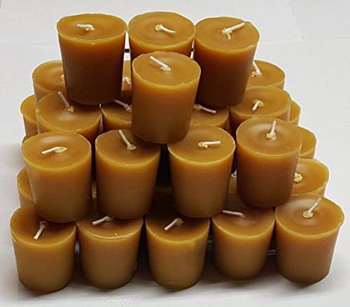 100% Beeswax 15 Hour Votive Candles - Bulk Pack of 36 (Votive Mold)