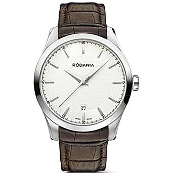 Rodania Swiss Herren-Armbanduhr Nolan Analog Quarz Leder RS2506821