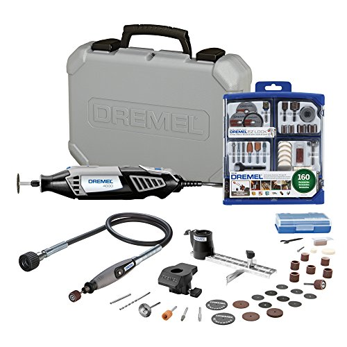 Dremel 4000-2/30 Rotary Tool Kit with 160-Piece Accessory Kit and Flex Shaft Attachment ()