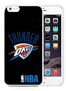 New Custom Design Cover Case For iPhone 6 Plus 5.5 Inch Oklahoma City Thunder 3 White Phone Case