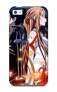 New Premium Flip Case Cover Sword Art Online Girls Guys Anime Skin Case For Iphone 5c