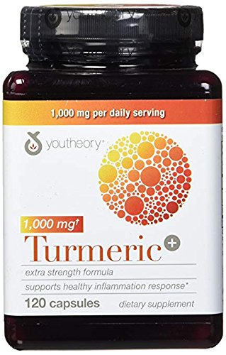 Youtheory Turmeric Extra Strength Formula Capsules 1,000 mg per Daily, 180 Count (Pack of 5) pEx#Yk