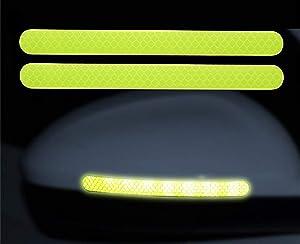 AmerStar 3D Car Reflective Sticker Rearview Mirror Protection Car Rear View Mirror Stickers Decor DIY Car Body Sticker