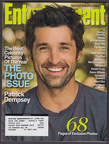 ENTERTAINMENT WEEKLY Patrick Dempsey George Clooney Reese Witherspoon 10/19 2007
