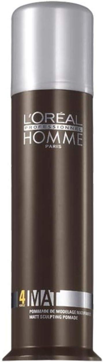 L'Oréal Professionnel Homme - Mat 4 - Crema de modelado matificante - 80 ml