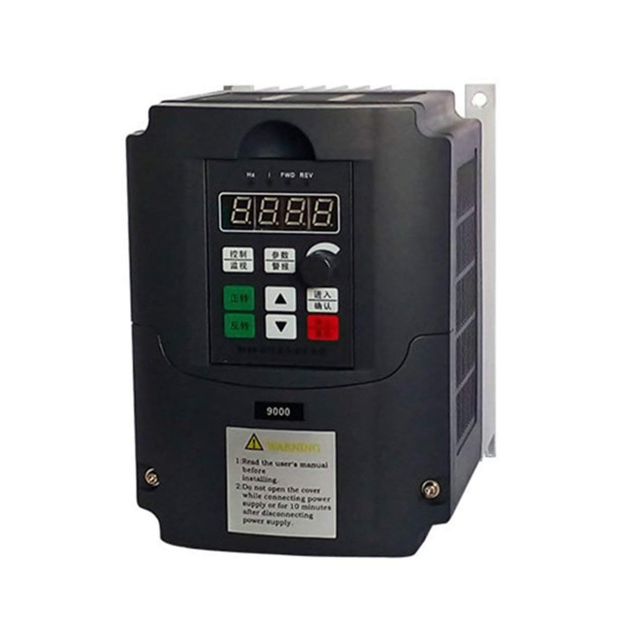 220V 1.5KW Inversor de frecuencia, monofá sico Convertidor de frecuencia de 3 fases de salida del convertidor de velocidad ajustable de frecuencia de accionamiento del inversor, para el motor de 3 fases Dooret