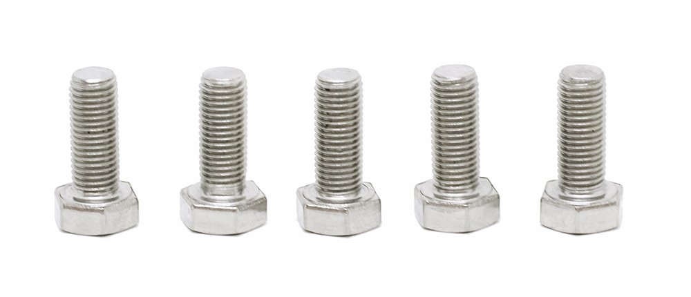 (5pcs) BelMetric M8X1.0X20 A2-70 Stainless Steel Corrosion Resistant Metric Fine Threaded Hex Tap Bolts DIN 961 for Automobiles, Motorcycles and Watercraft BR8X1.0X20SS by BelMetric