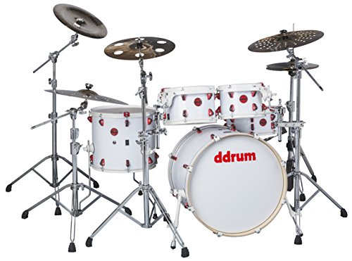 ddrum Hybrid 5 Player Shell Pack Kit-White Wrap Finish WHT (Snare Hybrid)