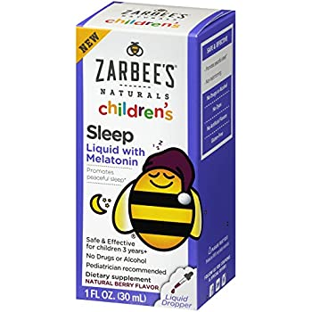 Zarbees Naturals Childrens Sleep Liquid with Melatonin, Natural Berry Flavor, 1 Ounce Bottle