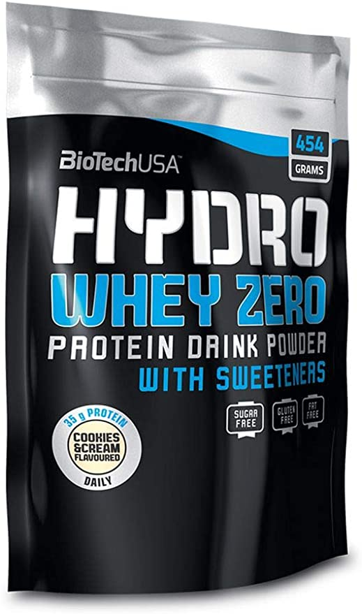 BioTech Hydro Whey Zero Proteínas de Suero de Leche, Sabor Cookies&Cream - 454 gr
