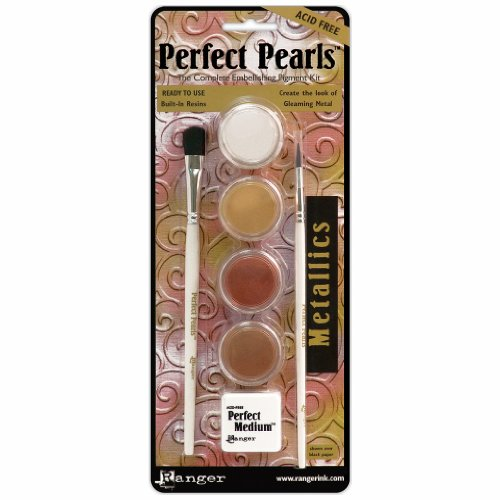 Ranger Embossing Pearls (Perfect Pearls Pigment Powder Kit-Metallics)
