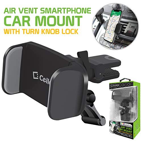 Cellet Air Vent Mount with 360 Degree Rotation and Tightening Knob Holder Compatible to AApple iPhone Xr,Xs Max,Xs,X,SE,8 Plus,8,7 Plus,7,6S Plus,6S,6 Plus,6,5S,5C,5,4S,4,3GS,3G,iPod Touch,iPod Nano ()