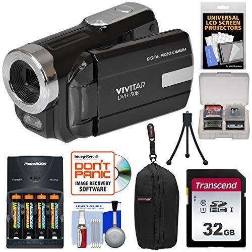 Vivitar DVR-508 HD Digital Camcorder + 32GB Card + Batteries