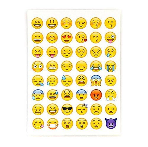 Dazzling 2 Sheet 96 Die Cut Decor Vinyl Design for Laptop Random Emoji Stickers (For Ap Kindle Blackberry)