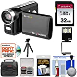 Bell & Howell DV200HD HD Video Camera Camcorder with Built-in Video Light 32GB Card + Video Light + Tripod + Case + Kit