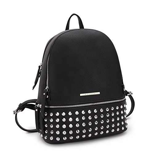 MKP Collection Casual Backpack for Girls School~Fashion Backpack for woman~Outdoor and roomy bag (7580) (Black Spike Backpack)