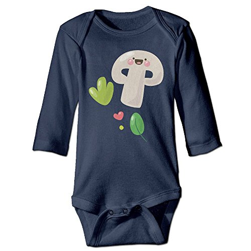 Kids Long Sleeve Outfit, Mushroom Newborn Infant Printed Climbing Clothes Rompers